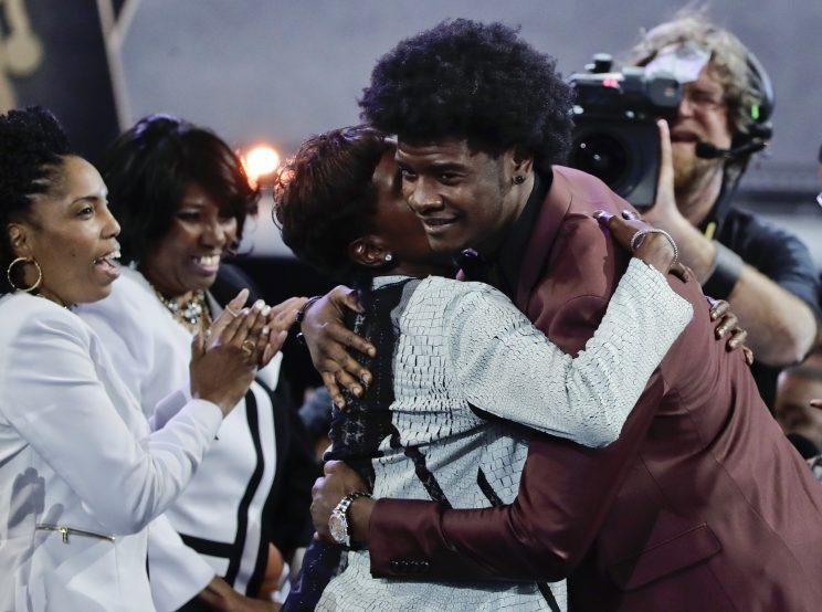 Josh Jackson seems excited to be joining the Suns. (AP)