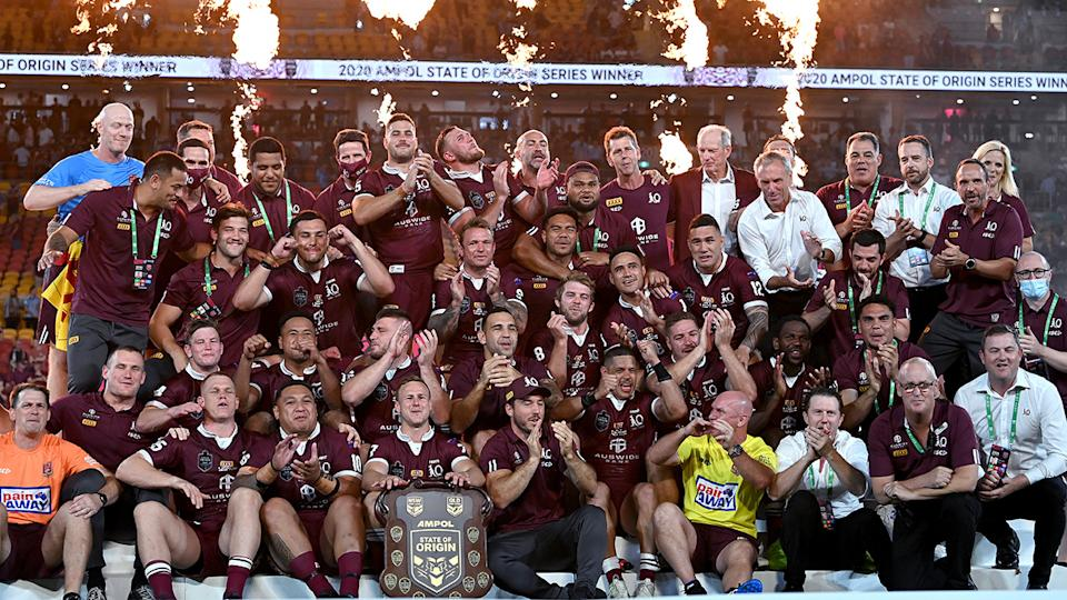Queensland defeated New South Wales 2-1 in the 2020 State of Origin series. (Photo by Bradley Kanaris/Getty Images)