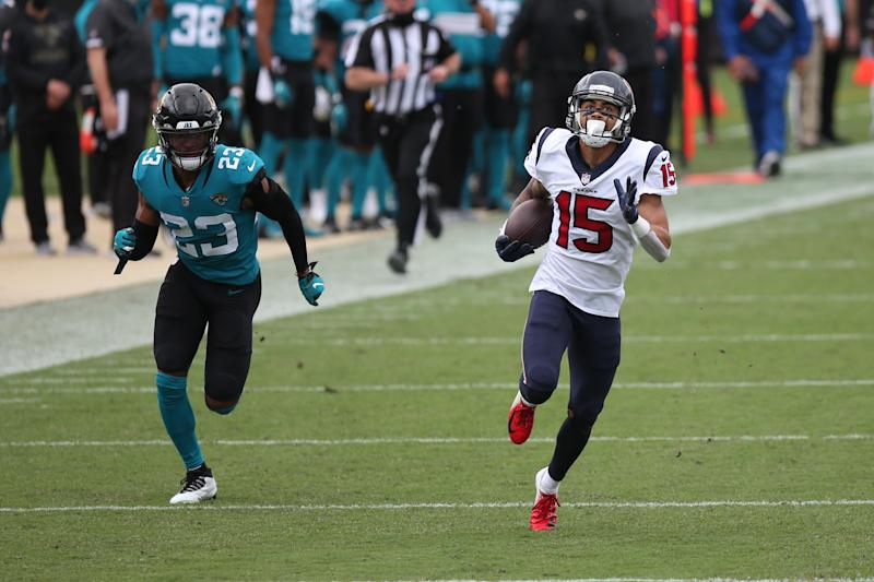 Houston Texans wide receiver Will Fuller's 77-yard touchdown was a huge play in a win. (Photo by David Rosenblum/Icon Sportswire via Getty Images)