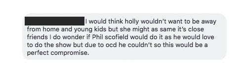 Holly Willoughby's childcare arrangements have been questioned following the announcement she will present I'm a Celebrity [Photos: Facebook]
