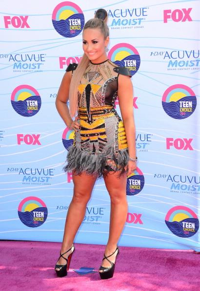 Singer/actress Demi Lovato arrives at the 2012 Teen Choice Awards at Gibson Amphitheatre on July 22, 2012 in Universal City, California. (Photo by Jason Merritt/Getty Images)
