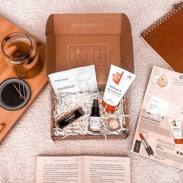 """<p><strong>Kinder Beauty Box, $25/month</strong></p><p><a class=""""link rapid-noclick-resp"""" href=""""https://kinderbeauty.com/#shopify-section-1542053954796"""" rel=""""nofollow noopener"""" target=""""_blank"""" data-ylk=""""slk:SHOP NOW"""">SHOP NOW</a></p><p>You can feel good about treating yourself to this box (which includes $165 worth of skincare and makeup, including two full-size products) each month for more than one reason: Not only are the formulas cruelty-free, but a portion of each purchase goes toward animal rights and environmental causes.</p><p><a href=""""https://www.instagram.com/p/CAdTSnaJks5/?utm_source=ig_embed&utm_campaign=loading"""" rel=""""nofollow noopener"""" target=""""_blank"""" data-ylk=""""slk:See the original post on Instagram"""" class=""""link rapid-noclick-resp"""">See the original post on Instagram</a></p>"""