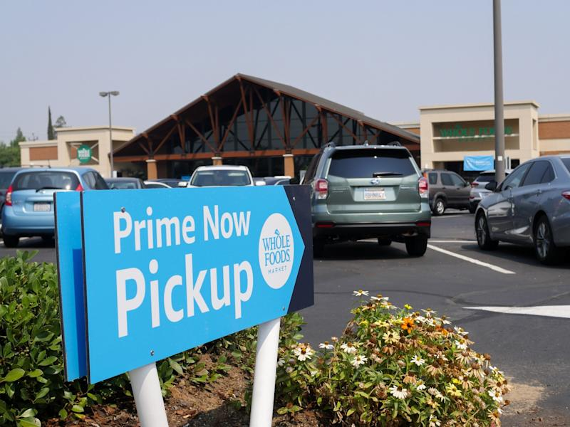amazon whole foods curbside online delivery pickup service sacramento 13