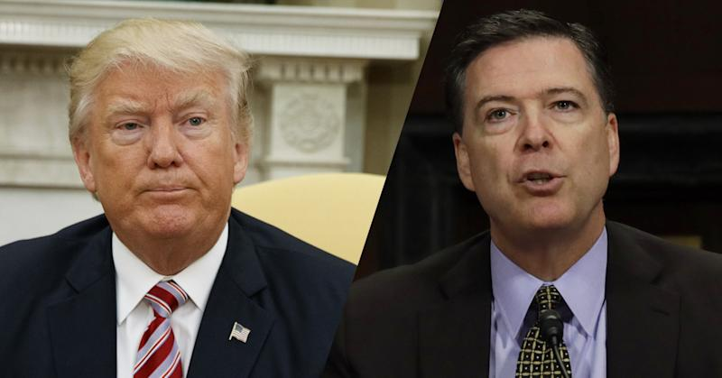 Trump and Comey. (Photos: Evan Vucci/AP, Kevin Lamarque/Reuters)