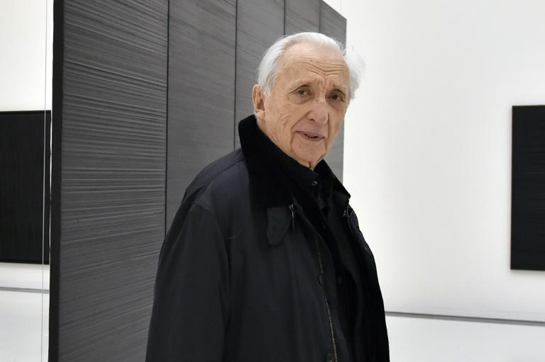 The Louvre is hosting a retrospective of French artist Pierre Soulages, pictured in 2014, known for his heavy use of black (AFP Photo/PASCAL PAVANI)