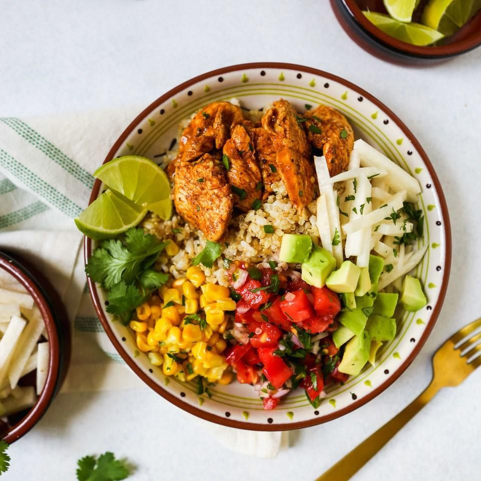 <p>Skip takeout and whip up these equally delicious, and easy-to-make burrito bowls at home. They're great for a fast and easy dinner or as meal-prep lunches to pack for work throughout the week.</p>