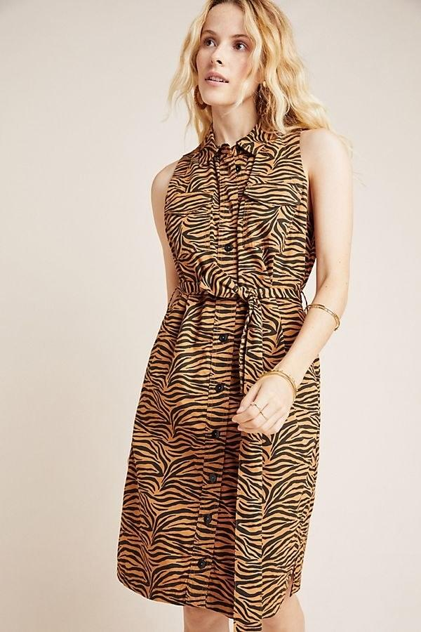 "$140, Anthropologie. <a href=""https://www.anthropologie.com/shop/tigresa-shirtdress?category=dresses&color=029&type=STANDARD"">Get it now!</a>"