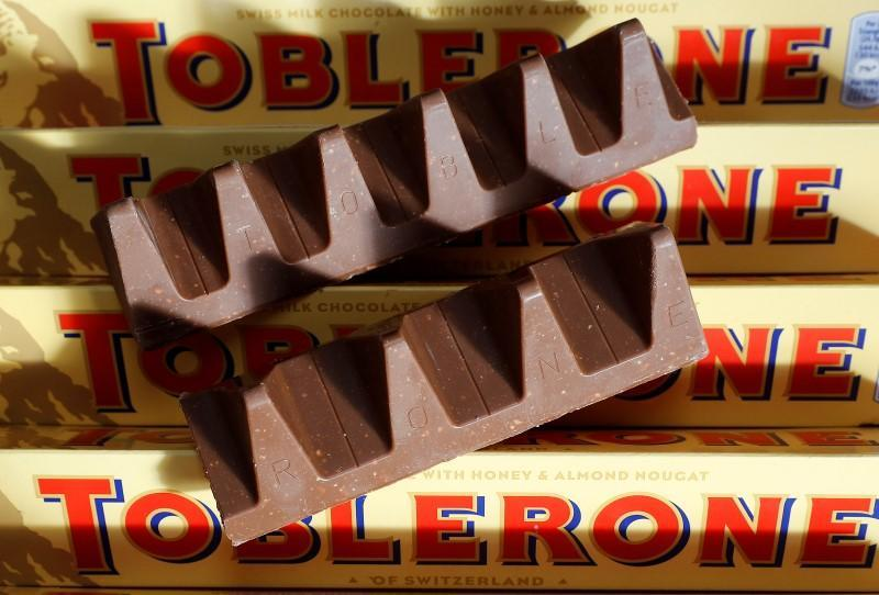 Fans of Toblerone were fuming after the number of 'peaks' were reduced to cut costs (REUTERS/Darren Staples)