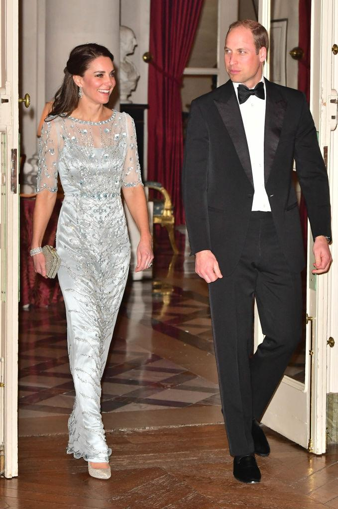 Prince William, Duke Of Cambridge and Catherine, Duchess of Cambridge arrives for a dinner hosted by Her Majesty's Ambassador to France, Edward Llewellyn, at the British Embassy in Paris. (Photo: Getty Images)
