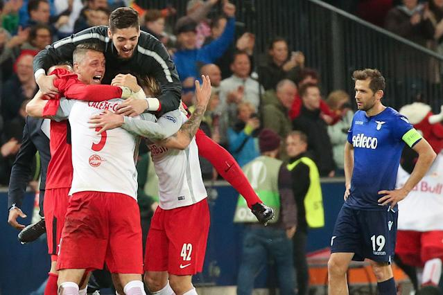 Europa League: Salzburg capitalise on Lazio capitulation as Marseille complete comeback over Leipzig on night of drama