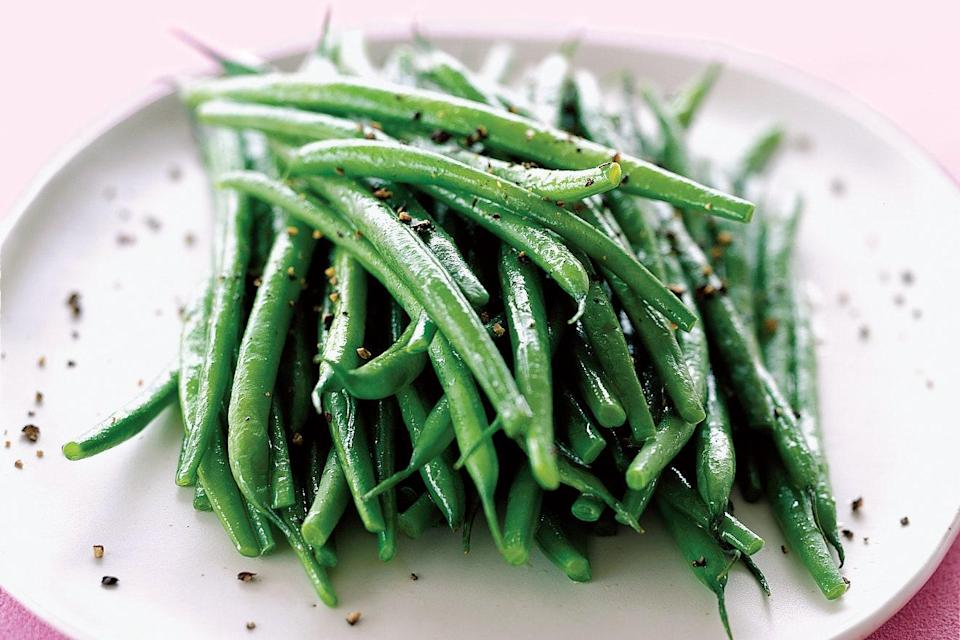"Looking for a light, simple side dish that comes together in 20 minutes and will please everyone at the table? This is it. Dijon mustard adds just a bit of sharpness to sesame dressing. <a href=""https://www.epicurious.com/recipes/food/views/green-beans-with-sesame-vinaigrette-109749?mbid=synd_yahoo_rss"" rel=""nofollow noopener"" target=""_blank"" data-ylk=""slk:See recipe."" class=""link rapid-noclick-resp"">See recipe.</a>"