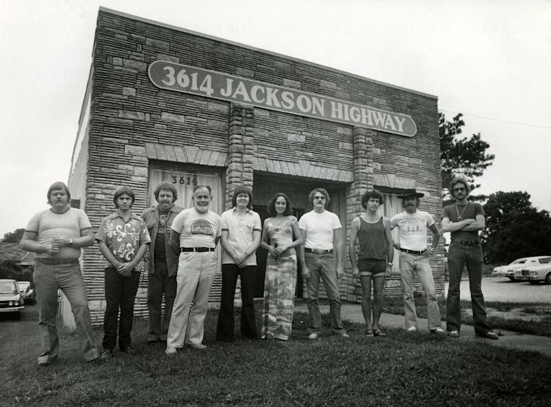 "This undated image released by Magnolia Pictures shows a group of studio musicians known as The Swampers at the Muscle Shoals Sound Studio in Muscle Shoals, Ala., a subject of the documentary ""Muscle Shoals."" Jimmy Iovine and Luke Wood were so moved by the ""Muscle Shoals"" documentary, they're putting up money to make sure the unique spirit of the Alabama music haven lives on. The Beats Electronics officials are starting a program to refurbish and upgrade two historic studios in Muscle Shoals _ FAME Recording Studios and Muscle Shoals Sound Studio _ then will install education programs to train a new generation of producers, audio engineers and musicians. North Alabama remains a fertile musical proving ground, with a thriving scene that includes Jason Isbell, Alabama Shakes and John Paul White, one half of The Civil Wars. (AP Photo/Magnolia Pictures)"