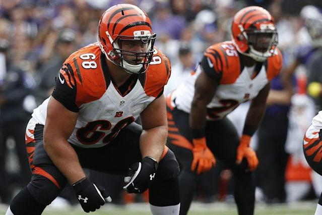 Bengals guard Kevin Zeitler is in line for a hefty pay raise this month. (Getty Images)