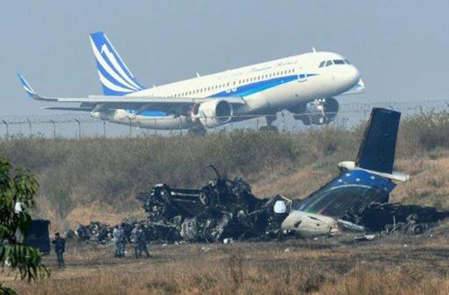 Kathmandu officials and the airline laid the blame for the accident on each other. Source: AFP