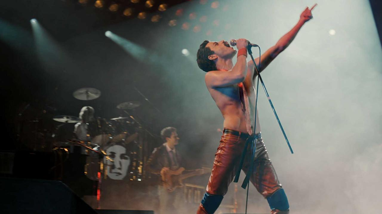 <p>Director: Bryan Singer<br />Stars: Rami Malek, Lucy Boynton, Gwilym Lee<br />The story of the legendary rock band Queen and lead singer Freddie Mercury, leading up to their famous performance at Live Aid (1985). </p>
