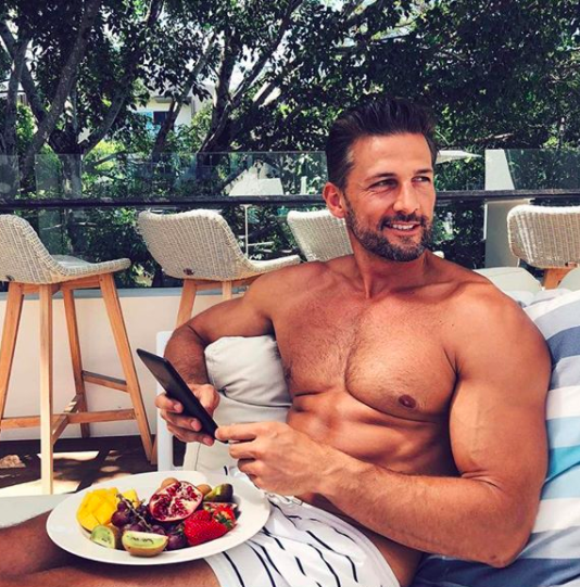 Of course Tim was chowing down on the fruit. We were more partial for the champagne and cocktails. Source: Instagram / @mrtimrobards