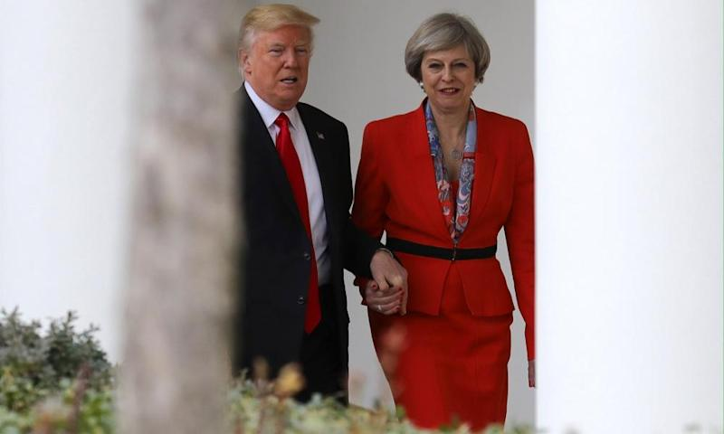 Theresa May and Donad Trump