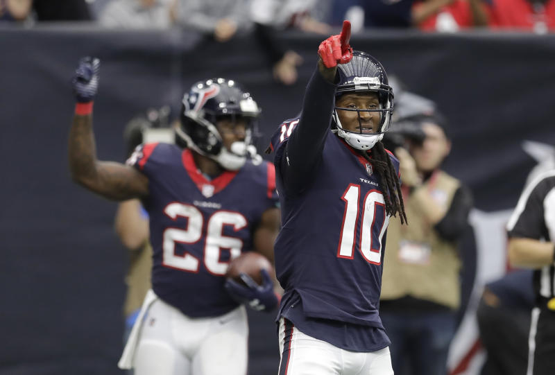 The Houston Texans produced one of the best touchdown celebrations of the season against Arizona. (AP)