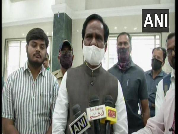 Union Minister Raosaheb Patil Danve during a press conference in Aurangabad on Sunday. (Photo/ANI)