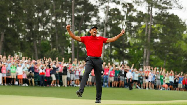 A smiling Tiger Woods said he was not going to let his children be disappointed again after winning in front of them at the Masters.