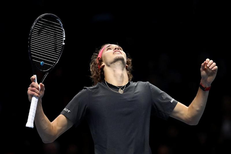 Zverev beat Federer on Saturday to qualify for his first final at the traditional season-ending tournament