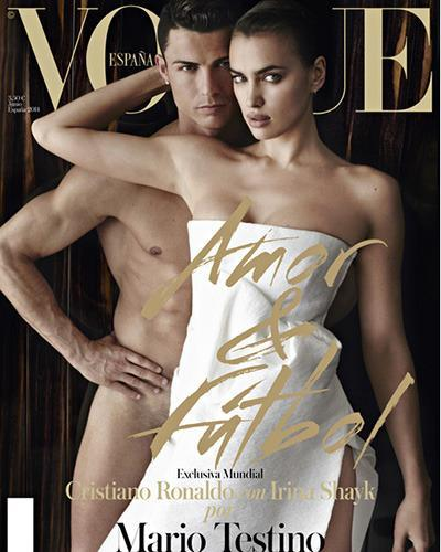 Cristiano Ronaldo and girlfriend Irina Shayk one-upped Kanye West and Kim Kardashian with this sexy Vogue Spain cover this month. See which other top athletes have scored their own sexy magazine covers. <b>Read more:</b> Soccer star Cristiano Ronaldo and fiance star in sexy Vogue cover shoot