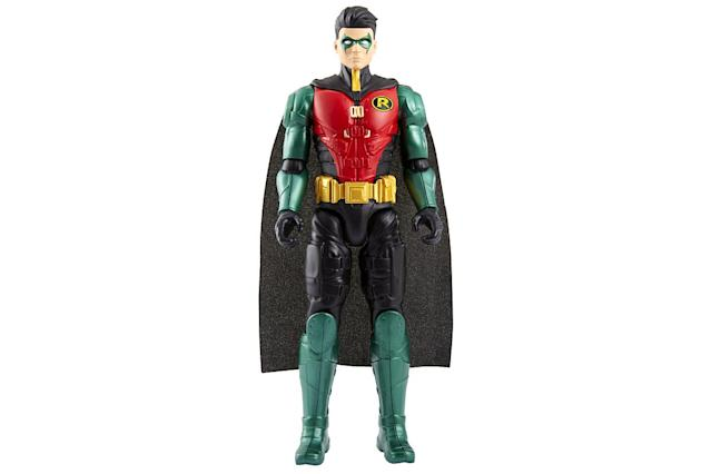 <p>Who are you calling a <em>Boy</em> Wonder? Sprouting up to 12 inches definitely gives Robin the appearance — if not necessarily the temperment — of a teenager. (Photo: Mattel/Warner Bros.) </p>