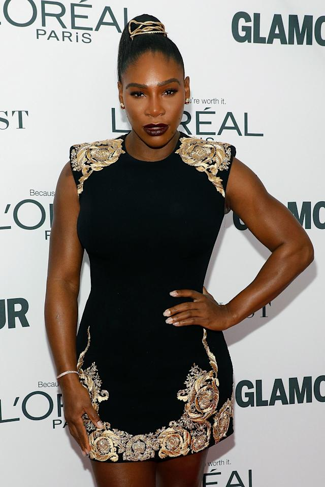 Serena Williams appears atthe 2017 Glamour Women of the Year Awards on Nov. 13 in New York City.