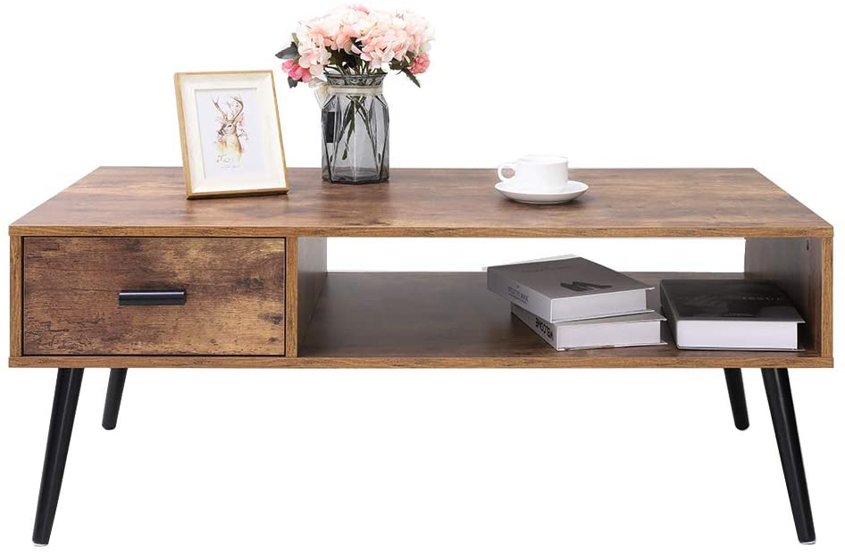 "<h3><a href=""https://amzn.to/3nOVkMq"" rel=""nofollow noopener"" target=""_blank"" data-ylk=""slk:IWELL Coffee Table With Drawer And Storage Shelf"" class=""link rapid-noclick-resp"">IWELL Coffee Table With Drawer And Storage Shelf</a></h3> <br><strong>When you need some extra living room storage: </strong>Store your remotes, books, and WFH office supplies in this coffee table with drawer and shelf. <br><br><strong>IWELL</strong> Mid-Century Coffee Table With Drawer And Storage Shelf, $, available at <a href=""https://amzn.to/3nOVkMq"" rel=""nofollow noopener"" target=""_blank"" data-ylk=""slk:Amazon"" class=""link rapid-noclick-resp"">Amazon</a>"