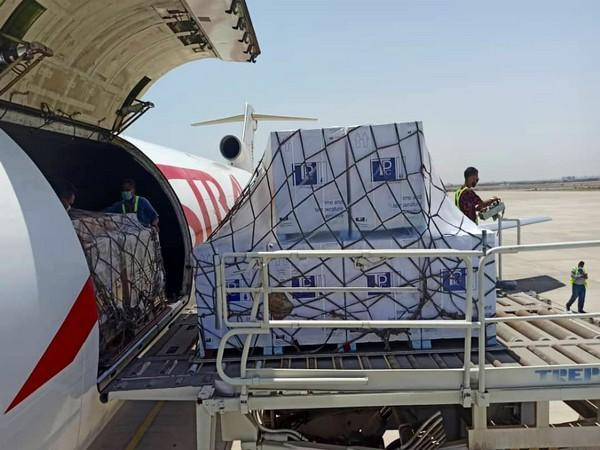 Consignment of Made-in-India COVID-19 vaccines arrives in Yemen (Photo Credit: Twitter/ Jaishankar)