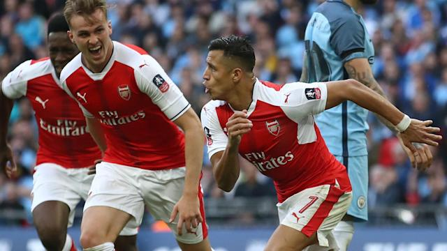 Arsenal continued their charge towards a third FA Cup crown in four years with a dramatic comeback victory against Manchester City.