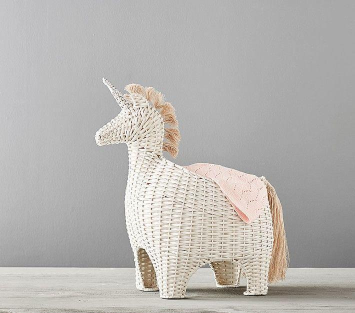 """<p><strong>pottery barn</strong></p><p>potterybarnkids.com</p><p><strong>$119.00</strong></p><p><a href=""""https://go.redirectingat.com?id=74968X1596630&url=https%3A%2F%2Fwww.potterybarnkids.com%2Fproducts%2Funicorn-shaped-storage%2F&sref=https%3A%2F%2Fwww.countryliving.com%2Fshopping%2Fgifts%2Fg33960948%2Fbest-unicorn-gifts%2F"""" rel=""""nofollow noopener"""" target=""""_blank"""" data-ylk=""""slk:Shop Now"""" class=""""link rapid-noclick-resp"""">Shop Now</a></p><p>Stash stuffed animals, blankets, or collect dirty laundry in this whimsical unicorn basket. </p>"""
