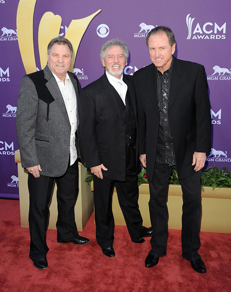 The Gatlin Brothers – (L-R) Steve, Larry, and Rudy Gatlin – have been going strong for40 years and don't look like they have plans to slow down anytime soon considering they're staples at every country music awards show!