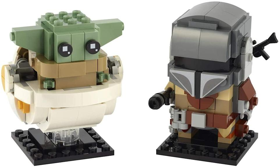 "<p>The <a href=""https://www.popsugar.com/buy/Lego-BrickHeadz-Star-Wars-Mandalorian-amp-Child-Kit-572090?p_name=Lego%20BrickHeadz%20Star%20Wars%20The%20Mandalorian%20%26amp%3B%20The%20Child%20Kit&retailer=amazon.com&pid=572090&price=20&evar1=moms%3Aus&evar9=47244751&evar98=https%3A%2F%2Fwww.popsugar.com%2Ffamily%2Fphoto-gallery%2F47244751%2Fimage%2F47244763%2FLego-BrickHeadz-Star-Wars-Mandalorian-Child-Kit&list1=toys%2Clego%2Ctoy%20fair%2Ckid%20shopping%2Ckids%20toys&prop13=api&pdata=1"" class=""link rapid-noclick-resp"" rel=""nofollow noopener"" target=""_blank"" data-ylk=""slk:Lego BrickHeadz Star Wars The Mandalorian & The Child Kit"">Lego BrickHeadz Star Wars The Mandalorian & The Child Kit</a> ($20, available Aug. 1) is best suited for kids ages 10 and up.</p> <p>Related: <a href=""https://www.popsugar.com/family/baby-yoda-toys-games-47236002?utm_medium=partner_feed&utm_source=yahoo_publisher&utm_campaign=related%20link"" rel=""nofollow noopener"" target=""_blank"" data-ylk=""slk:The Mandalorian Toys Are Coming in Hot! Check Out the 15 Baby Yoda Toys to Be Excited About"" class=""link rapid-noclick-resp"">The Mandalorian Toys Are Coming in Hot! Check Out the 15 Baby Yoda Toys to Be Excited About</a></p>"