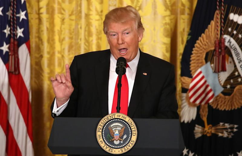U.S. President Donald Trump speaks during a news conference in the East Room at the White House on Feb. 16, 2017 in Washington, DC. (Photo: Mark Wilson/Getty Images)