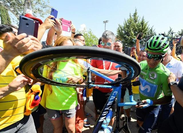 Colombia's Nairo Quintana has started life with his new team Arkea Samsic (AFP Photo/JOSE JORDAN)