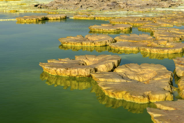 <p>With its active volcanoes and extreme heat, it is one of the hottest places on earth, with daytime temperatures often climbing above 122 degrees F. (Photo: Neta Dekel/Caters News) </p>