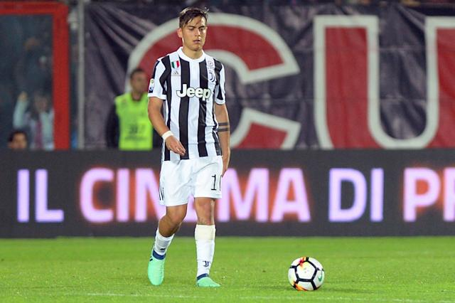 Soccer Football - Serie A - Crotone vs Juventus - Ezio Scida Municipal Stadium, Crotone, Italy - April 18, 2018 Juventus' Paulo Dybala reacts after conceding their first goal scored by Crotone's Simy REUTERS/Massimo Pinca