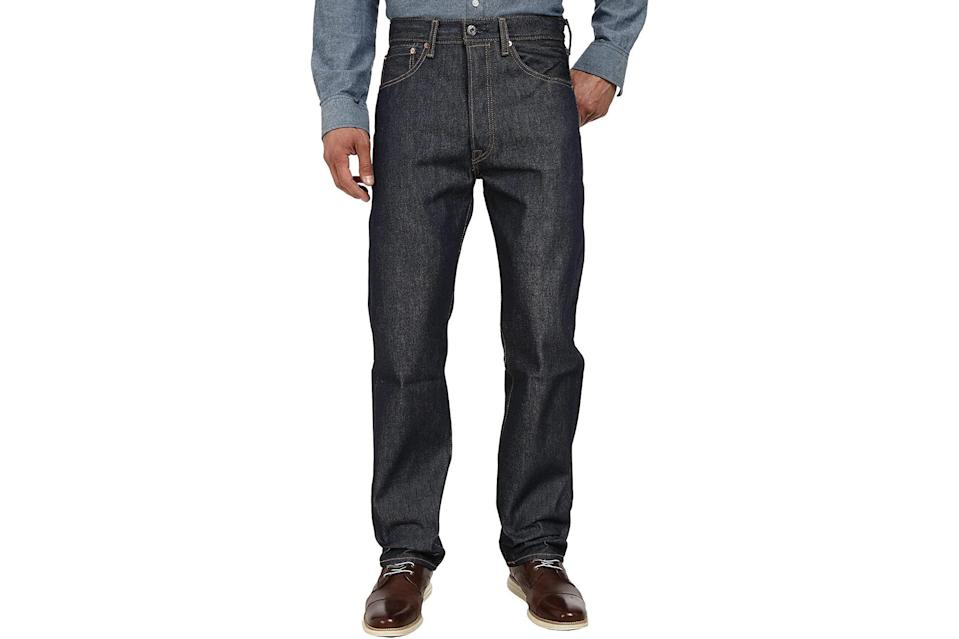 "$60, Zappos. <a href=""https://www.zappos.com/p/levis-mens-501-original-shrink-to-fit-jeans-rigid-shrink-to-fit/product/7983761/color/203660"" rel=""nofollow noopener"" target=""_blank"" data-ylk=""slk:Get it now!"" class=""link rapid-noclick-resp"">Get it now!</a>"