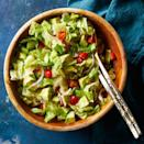<p>All of the delicious guacamole flavors you love in a healthy veggie-packed salad. Want to pump up the protein? Add leftover roast chicken or sautéed shrimp. Serve with tortilla chips on the side (or crumbled over the top) to take it up a notch.</p>