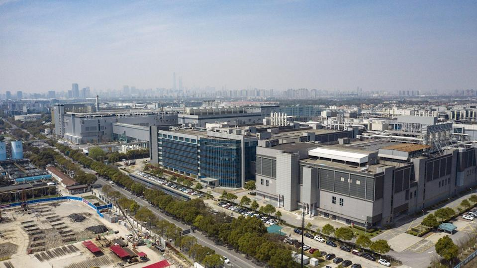 Aerial view of the SMIC campus in Shanghai, China, Tuesday, March 23, 2021. Photo: Bloomberg