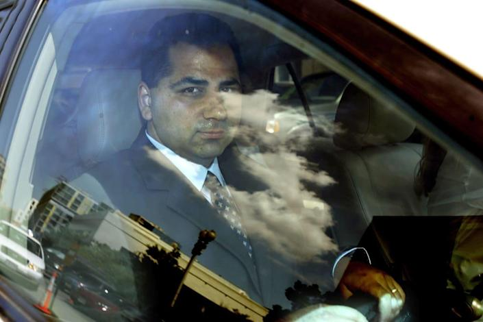 """<div class=""""inline-image__title""""> 71247284 </div> <div class=""""inline-image__caption""""> <p>Former Bush administration official David Safavian was found guilty of covering up his dealings with lobbyist Jack Abramoff.</p> </div> <div class=""""inline-image__credit""""> Chip Somodevilla/Getty Images </div>"""