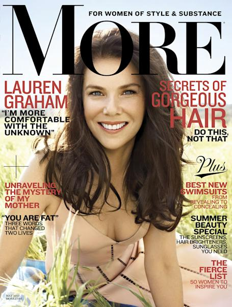 """Lauren Graham in the May 2013 issue of """"More"""""""