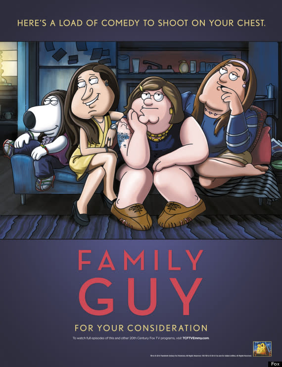 'Family Guy' Takes on 'Girls' in Emmy Ad (Photo)