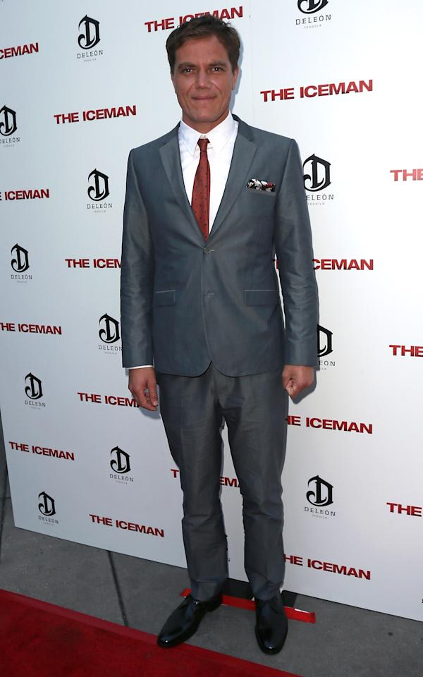 """HOLLYWOOD, CA - APRIL 22:  Actor Michael Shannon attends the Los Angeles special screening of Millennium Entertainment's """"The Iceman"""" at ArcLight Hollywood on April 22, 2013 in Hollywood, California.  (Photo by David Livingston/Getty Images)"""
