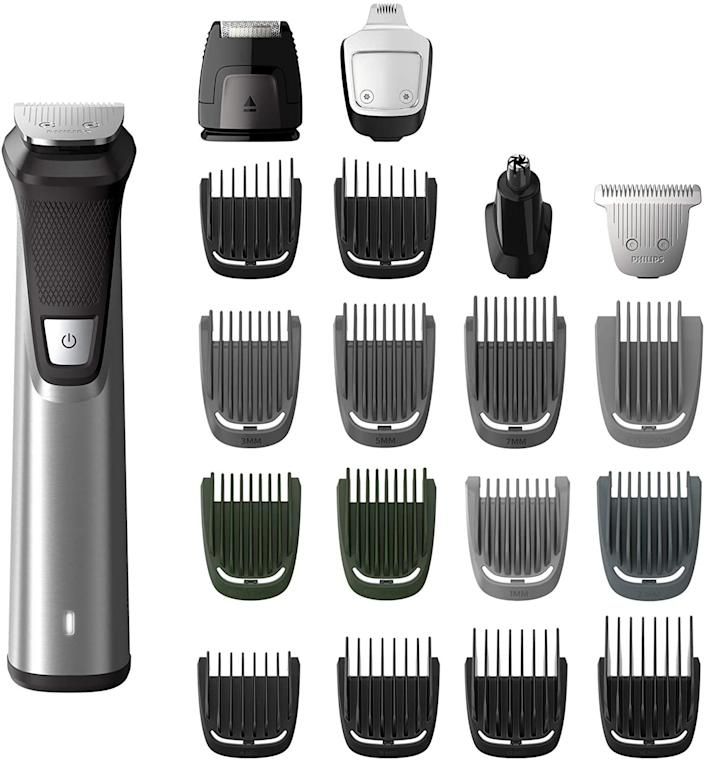 Philips Multigroom 7000 Face Styler and Grooming Kit. Image via Amazon.
