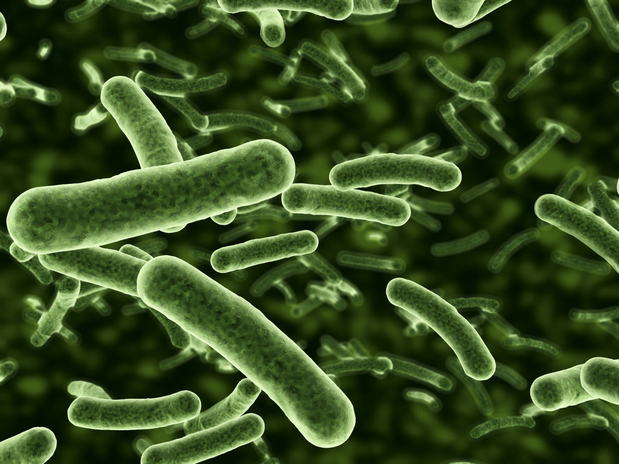 Bacteria flowing with depth of field. Can also be used as plant cells.