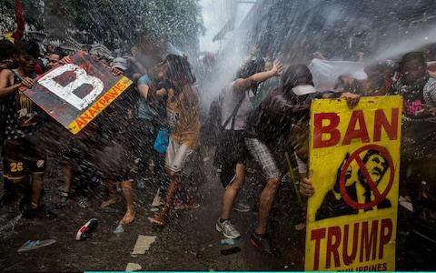 Manila protests - Credit: Getty