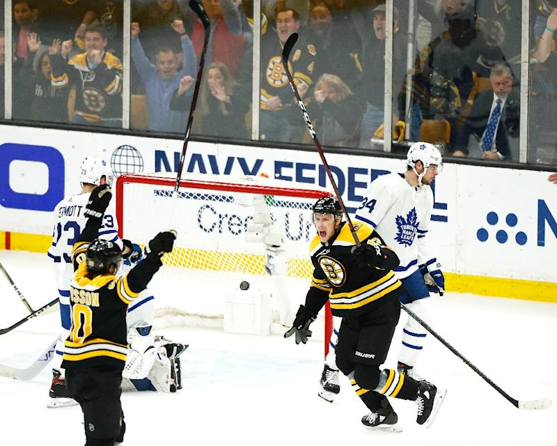 The Boston Bruins routed the Toronto Maple Leafs 5-1 to seal a 4-3 series victory