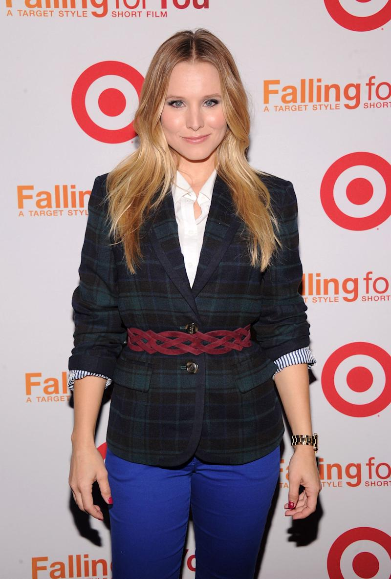 "Kristen Bell attends the Target ""Falling for You"" event at Terminal 5 on Oct. 10, 2012, in New York City."